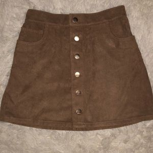 Express suede mini skirt